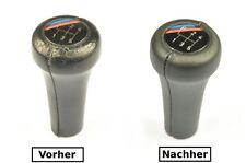 BMW E23 E24 E28 E30 E32 Bj.85-93 Abdeckung Lederbezug Leder für Schaltknauf N373