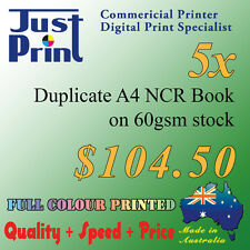 Custom A4 duplicate invoice book, docket book, quote book, NCR book, full colour