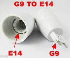 50x Led Halogen Cfl Light Bulb Lamp Converter G9 Male plug to E14 Female Socket