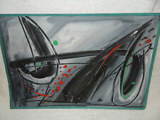 """Rolph Scarlett original pastel watercolor painting 12"""" x18"""" signed non-objective"""