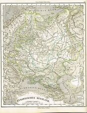 Karte EUROPÄISCHES RUSSLAND, Original-Graphik 1874