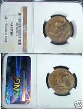 GEORGEOUS  Uncirculated  NGC MS63 UK (Great Britain) 1887 Half Penny