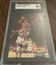 1992-93 Topps Stadium Club #1 Michael Jordan SGC 9 Iconic Dunk On Patrick Ewing