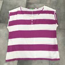 Urban Outfitters BDG Pink and white striped silk blouse! Size M Medium