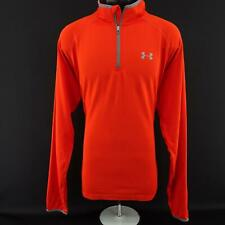 Men Under Armour Run All Season Gear Fitted Athletic Pullover Golf Shirt Size Xl