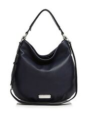 NWT MARC by MARC JACOBS New Q Hillier Leather Hobo Bag INDIA INK $428 AUTHENTIC