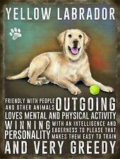 Labrador Jaune Plaque en métal Animal Chien De Compagnie Signe Image murale