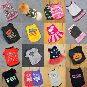 Chihuahua Pet Clothes Vest Puppy Small Dog Cat T Shirt Apparel Costumes Apparel
