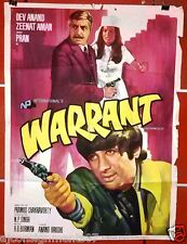 Warrant {Dev Anand} Bollywood Hindi Original Movie Poster 70s
