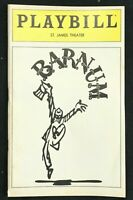 BROADWAY PLAYBILL - May 1980 - BARNUM - Original Cast  Jim Dale / Glenn Close b2