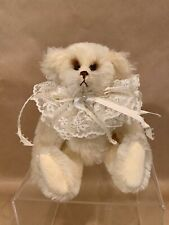 "Adorable Handmade Mohair Artist Bear by Joan Woessner ""Candy Kisses Vanilla"""