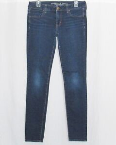 American Eagle Jeans 8 Long Super Stretch Skinny Jegging Pants 8L Tall Womens AE