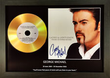 GEORGE MICHAEL 'LADIES AND GENTLEMEN' SIGNED GOLD DISC COLLECTABLE MEMORABILIA