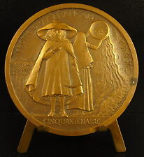 Médaille voyage en Tunisie Tunisia Doumergue 1931 Anie Mouroux tunisienne medal