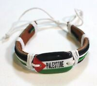 New Palestinian Bracelet - Palestine Flag Adjustable Wristband - Model # 3