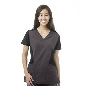 {2XL} WonderWink Medical Uniform Scrub Top FFX Sport Mock Wrap Top 6714X GPH