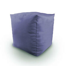 Lilac Cotton Filled Bean Bag Cube Foot Stool Pouffe Seat Rest Furniture Kids