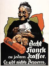 ADVERTISING AECHT FRANCK COFFEE LADY DOG CUP GERMANY ART POSTER PRINT LV493
