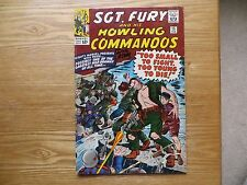 1964 SILVER AGE SGT FURY & HOWLING COMMANDOS #15 SIGNED DICK AYERS ART WWII, POA