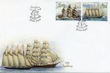 Aland 2018 FDC Sailing Ships Atlas Albania 2v Set Cover Boats Nautical Stamps
