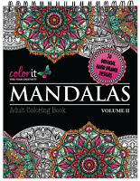 ColorIt: Mandalas to Color Volume 2 - Coloring Book For Adults - Hard Covers NEW