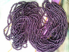 Vtg HANK PURPLE LUSTER COATED GLASS SEED BEADS 10/0 end of stock! #072711k