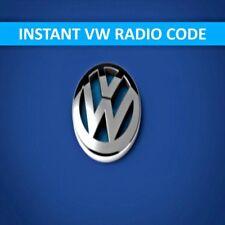 Any VW Radio Codes Volkswagen Code Decode unlock Pin SAFE quickly send code