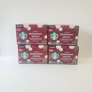 4 Starbucks Peppermint Mocha K Cups Pods Limited Edition Medium Roast BB 4/2021