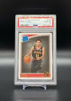 2018-19 Panini Donruss Rookie Rated Trae Young Rookie #198 PSA 10 Hawks RC