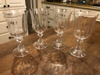 """Set of 4 Mikasa French Countryside Crystal 7.5"""" Water Goblet Austria Excellent"""