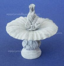 Miniature Dollhouse Gray Fountain 1:12 Scale New