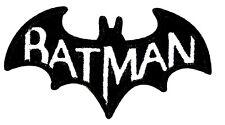"Batman Patch Comic Book Superhero Embroidered Iron On Applique 3.50"" X 2.00"""