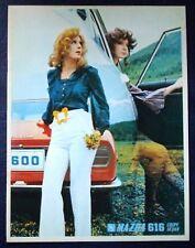 MAZDA 616 COUPE & SEDAN CAR SALES BROCHURE CIRCA 1970.