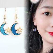 Women Party Travel Club Ear Drop, Moon Stars Dream Girl Pendant Earrings Jewelry