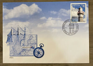 FDC FIRST DAY COVER LATVIA LIGHTHOUSE
