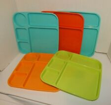 Nordic Ware Party Trays Assorted Colors Set of 5 Microwave safe Made in USA.