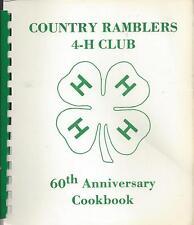 * CHEROKEE IA 1986 COUNTRY RAMBLERS 4-H CLUB COOK BOOK 60th ANNIVERSARY * IOWA