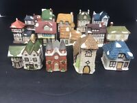 14 Dept 56 Mini Dickens Porcelain Miniature Holiday Houses Heritage Collection