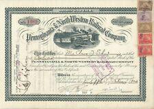 Pennsylvania & North Western Railroad Company  1890