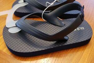 NEW Old Navy Toddler Boys SIZE 7 Navy Blue Flip Flop Sandals #10420