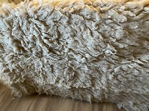 flokati rug Maternity Newborn Photography Prop Caramel/ Beige