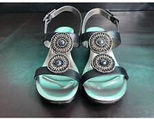 Bandolino Heelda Slingback Wedge Sandals 7.5 M, Black (017-042) NEW In Box!