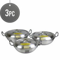 Ashley Cook Aluminium Round Twin Handles Karahi / Cooking Pot Set - 22,24,26 cm