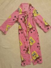 Nickelodeon Pink SpongeBob SquarePants Long Loose Bath Robe Kids Size 4-10