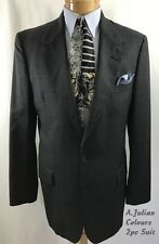ALEXANDER JULIAN COLOURS Men's 2 Pc Suit Size 39R W/I 33/33 Navy Windowpane