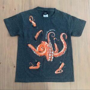 Monterey Bay Aquarium Dark Gray Octopus T-Shirt Youth Size Small Ocean Sea