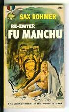 RE-ENTER FU-MANCHU by Sax Rohmer, rare US Gold Medal crime gga pulp vintage pb