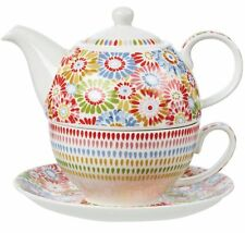 Caravan Trail HARBOUR SANDS TEA FOR ONE Saucer + Teapot + Cup Fine China
