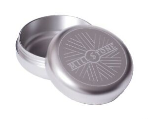 Millstone Tobacco Herb Storage Jar Smell Proof Tin AirTight Container Box Silver