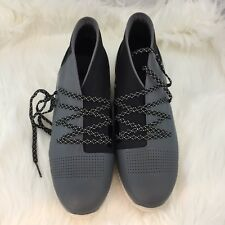 NWOB UNDER ARMOUR MENS 11.5 Dark Gray Black VELOCE MID Leather Shoes 1296613-040